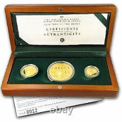2002 Australia 3-Coin Gold Lunar Horse Proof Set (Series I) SKU#58168