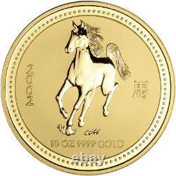 2002 Australia Gold Lunar Series I Year of the Horse 10 oz $1000 BU