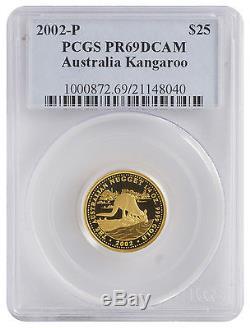 2002-P 1/4oz Gold Kangaroo PR69 DCAM PCGS (#040)