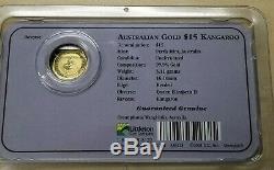 2003 1/10 oz Australian Kangaroo/Nugget. 9999 Gold Coin Littleton Coin Co SC8468
