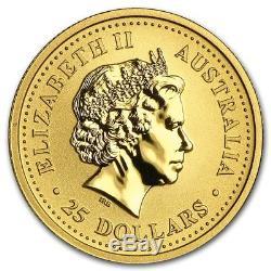 2003 $25 1/4 oz 9999 Gold Australian Nugget Kangaroo