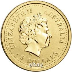 2003 Australia Gold Lunar Series I Year of the Goat 1/20 oz $5 BU