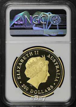 2003-P Australia $200 Gold 2 oz Kangaroo NGC PF-70 Ultra Cameo Pop 5