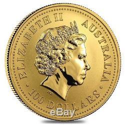 2004 1 oz Australian Gold Kangaroo Perth Mint Coin. 9999 Fine BU In Cap