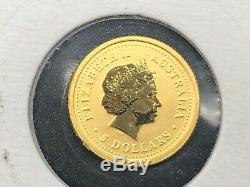 2004 AUSTRALIAN LUNAR MONKEY 1/20oz GOLD COIN THE PERTH MINT SERIES I