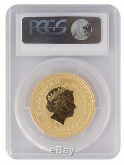 2005 1oz Gold Australian Lunar Rooster Series 1 MS69 PCGS (#814)