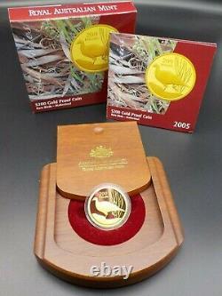 2005 $200 1/2oz Gold Proof Coin Rare Birds Malleefowl RAM No. 886