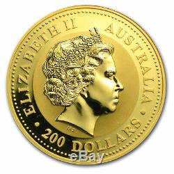 2005 Australia 2 oz Gold Lunar Rooster BU (Series I) SKU#34813