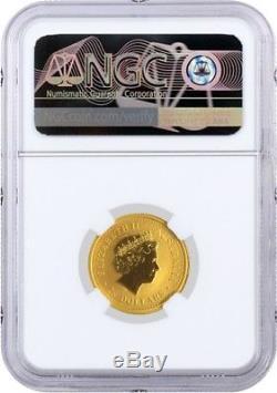 2006 $25 AUD 1/4 oz. 9999 Fine Gold Australian Perth Mint Lunar Dog NGC MS67