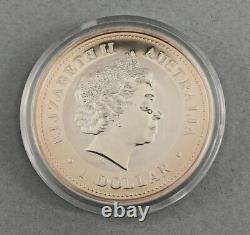 2006 Perth Mint The Australian Kookaburra 1 Oz. Coin Gilded Edition With Box