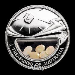 2007 1 oz Silver Opals Treasures of Australia Locket Coin SKU#187938