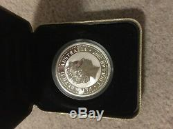 2007 2010 Australian Series I Year of TIGER Lunar 1oz Silver Gilded Proof Coin