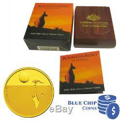 2007 $25 Royal Australian Mint Kangaroo At Sunset 1/5oz Gold Proof Coin