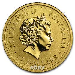 2007 Australia 1/10 oz Gold Lunar Pig BU (Series I) SKU #18495