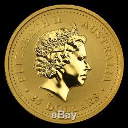 2007 Australia 1/4 oz Gold Lunar Pig BU (Series I) SKU #18481