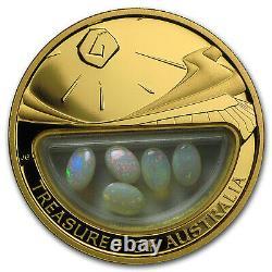 2008 1 oz Proof Gold Treasures of Australia Opals SKU #101584