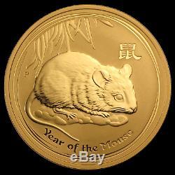 2008 Australia 1 oz Gold Lunar Mouse BU (Series II) SKU #28815