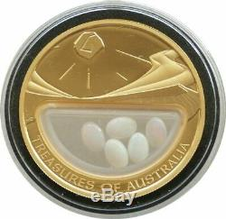 2008 Australia Treasures of Australia Opal $100 Gold Proof 1oz Coin Box Coa
