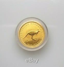 2008 Australian Kangaroo Coin 1/20 oz Fine Gold $5 Australian in Case Pre-Owned