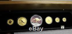 2008 Australian Kangaroo Prestige Set of 6 Fine Gold & silver Coins (OOAK)