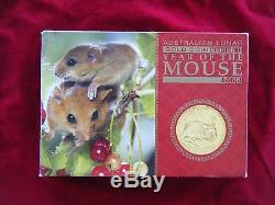2008 Australian Lunar Gold Series II Year of the Mouse Three Coin Proof Set RARE