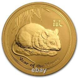 2008 P Australia 1 Oz 9999 Gold $100 Lunar Year Of The Mouse Superb Scarce