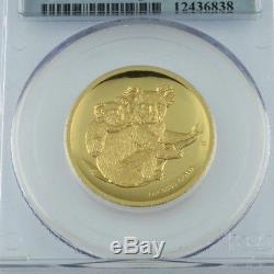 2008-P G$100 Australia Koala Graded PR70DCAM High Relief by PCGS! Low Mintage