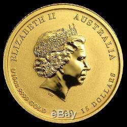 2009 Australia 1/10 oz Gold Lunar Ox BU (SII, Colorized) SKU #56492