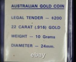 $200 Dollar Australian Gold Coin 1980 Koala 22 Carat Royal Australia (hh13)