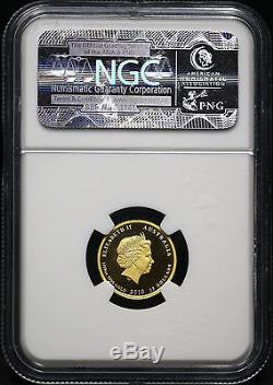 2010P NGC MS-69 GOLD 1/10th OZ $15 DOLLAR YEAR OF THE TIGER. 9999 AUSTRALIA