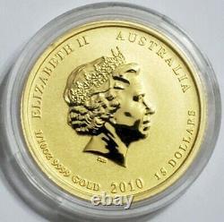 2010 1/10 Oz Gold $15 Australian LUNAR YEAR OF TIGER Coin