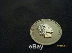 2010 1/10 oz Gold Australian Perth Mint Lunar Year of the Tiger Coin