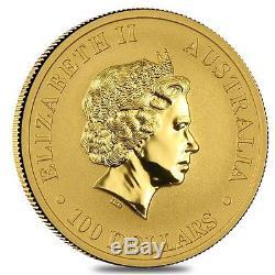 2010 1 oz Australian Gold Kangaroo Perth Mint Coin. 9999 Fine BU In Cap