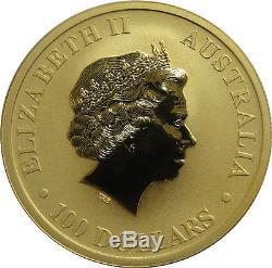 2010 1oz Gold Australian Kangaroo. 9999 Gold Coin in mint capsule