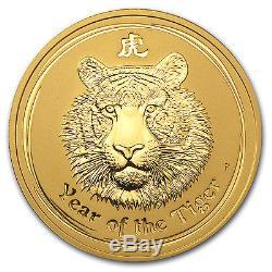 2010 2 oz Gold Australian Lunar Year of the Tiger Coin SKU #54833