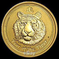 2010 Australia 1/10 oz Gold Lunar Tiger BU (Series II) SKU #54865