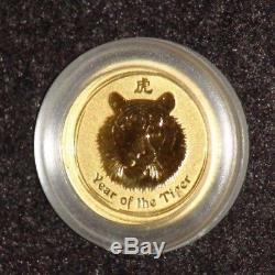 2010 Australia 1/20 oz. 9999 Fine Gold Lunar Tiger BU