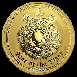 2010 Australia 1 oz Gold Lunar Tiger BU (Series II) SKU #54834