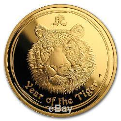 2010 Australia 1 oz Gold Lunar Tiger Proof (Series II) SKU#61232
