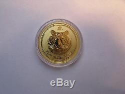 2010 Australian Lunar series Gold 1/2 oz Tiger Coin