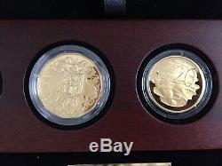 2010 Gold Proof Set Australian Numismatic Centenary 6 Gold Coins