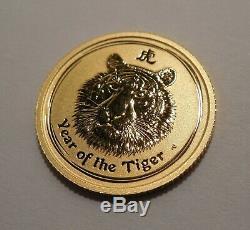 2010-P-Australia-Year of the Tiger-$15-1/10 oz. 9999 Gold Coin-Original Capsule