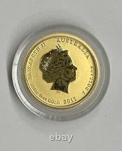 2011 1/20 oz. 9999 Gold Australia Lunar Series Rabbit $5