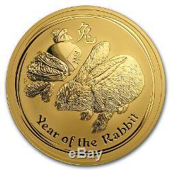 2011 Australia 10 oz Gold Lunar Rabbit BU (Series II) SKU#59021