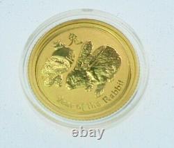 2011 Australia 1/10 oz Gold Lunar Rabbit BU (Series II)