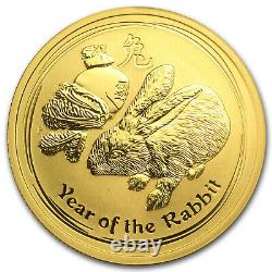 2011 Australia 1/2 oz Gold Lunar Rabbit BU (Series II) SKU #59024