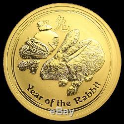 2011 Australia 1 oz Gold Lunar Rabbit BU (Series II) SKU #59023