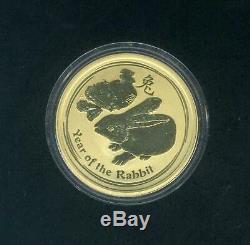 2011 Australian 1/10 Ounce Gold Year of the Rabbit Lunar Coin Series II