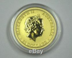2011 GOLD 1/4 oz. BU Australia Kangaroo (Rising/Full Sun) Rare Low Mintage