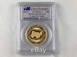 2011-P 1 oz Gold Perth Mint Australian Nugget Proof Coin PCGS PR70 First Strike